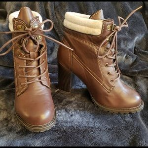 never worn torrid brown heeled booties